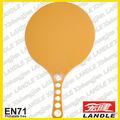 Cor laranja conjunto raquete raquete + bola amarela com embalagem líquida praia ou / plástico praia raquete