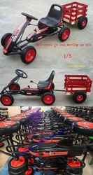 off road china kids car pedal go kart with trailer