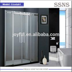 Luxury 8mm safety glass shower door Crystal-I