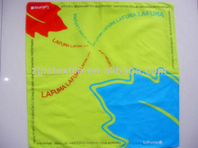Custom design fashionable words printed cotton handkerchief for adults and children high quality