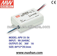 Original Meanwell 35W Constant Voltage led power supply 35W led driver APV-35-36