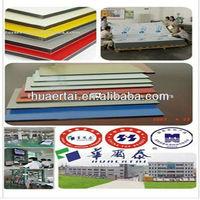 0.4x0.4mm aluminum thickness 3/4/5mm PE coating transparent roof panel