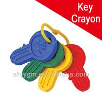 4PCS Key Shaped Good Quality Plastic Crayon/shaped plastic crayon/Plastic Crayon set