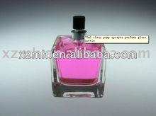 75ml square perfume glass bottle with aluminum sprayer