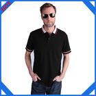 Wholesale fashion design collar strip color famous brands men's polo t shirts