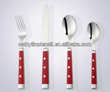 steel spoon and fork plastic handle cutlery