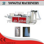 Disposable automatic white Polythene t shirt smock cutting machine