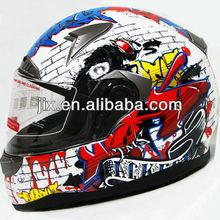 2013 New full face Motorcyle crash Helmet FF001 White-Red Graffiti