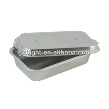 compagnia aerea rivestita con coperchio foglio di alluminio contenitore di alimento