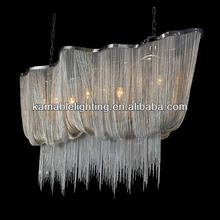 Fantasy Hotel Decorative Silver Chain Chandelier Modern Lighting