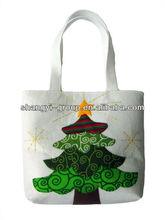 (GB-02C)ECO-Funny Christmas Tree Felt Tote Bag/Felt bag