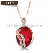ouxi latest design ruby pendant necklace made with swarovski elements 10272