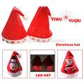 2014 горячая продажа рождество шляпы со светом