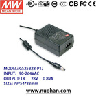 Meanwell 20~25W AC-DC Single Output Desktop dc switch power supply/28v switch power supply/desktop switching power supply