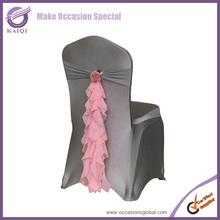2014 hot sale chiffon chair sashes/wedding chair tie backs