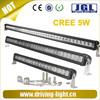 New Product! 20''/30''/40''/50'' single row led light bar cree 5w offroad light bar, curved radius led light bar double row