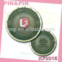 high quality zinc alloy bronze relief logo sports souvenir coins