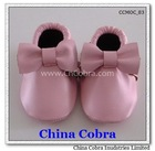 2014 best selling high quality cow leather soft baby shoes
