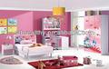 Kid furniture/princess kids bedroom furniture/ kids bedroom home MDF furniture set 8818