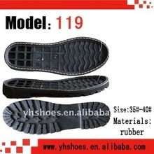 Hot sell rubber ladies casual boot outsoles,yuehai(119)
