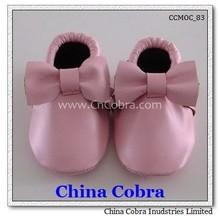 2014 mejor venta de alta calidad de cuero de vaca suave zapatos de bebé