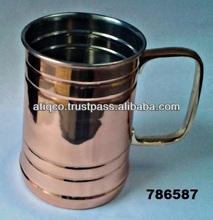 Metal sofra bira kupa maşrapa pirinç kulplu moskova katır kupalar