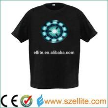 China Flashing Custom design sound activated programmable led t shirt