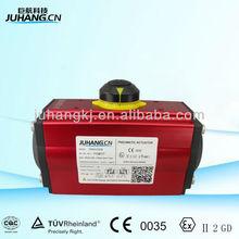actuador neumático con conectores estándar iso5211