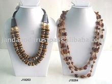 Resin necklace and amber Glass bead necklace available in other styles also
