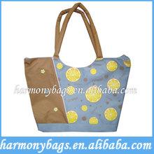Full imprinting supermarket plain tote bag
