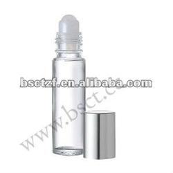 10ml roll on glass bottle with Shiny silver cap