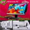 New inventions DIY all in one pc case AIO pc case with 23.6inch LED monitor easy assembly gaming computer