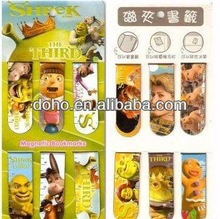 High quality cartoon print paper magnetic bookmark --DH 8092