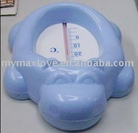Hippo shape Baby plastic bath /shower water floating temperature Thermometer