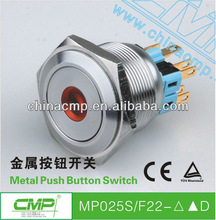 CMP Dot Led Push Button Switch with 25 mm Thread Diameter and Stainless Steel Crust