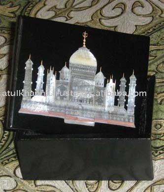 Marbles Taj Mahal Inlay Box