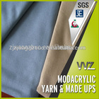 Modacrylic flame resistance airline blankets fabric for sale Airline blanket fire restardant