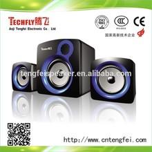 2.1 USB recharge computer speaker;usb input power saving computer speaker TF-861