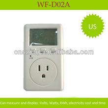 Singple phase plug in power meter digital display energy meter US plug