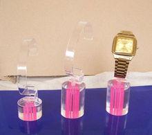 acrylic watch display stand-y130715/watch acrylic stand/pink column base watch display--pink column base watch display