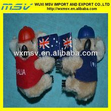 stuffed clip toy/plush koala skin