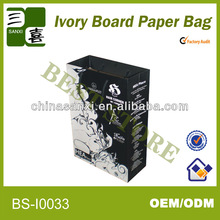 eco-friendly luxury ivory board paper gift bag photo frame packaging made in china