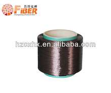 Polyester fiber and yarn POY Black