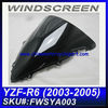 For YAMAHA 2003 2004 2005 R6 Motorcycle Windshield FWSYA003