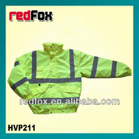 high visbility safety padded jacket with reflector