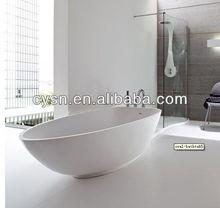 corner artificial marble bathtub oval shape /white stone bathtub