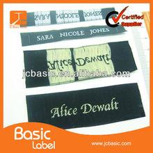 3D garment label/ wholesale clothing woven labels