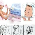 magic envoltório de cabelo chapéu de toalha de banho mão secagem rápida microfibra twist azul absorvente