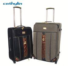 Trolley PU leather luggage case high end wheel luggage