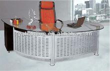 iron panel Semicircle design executive desk/CEO office table